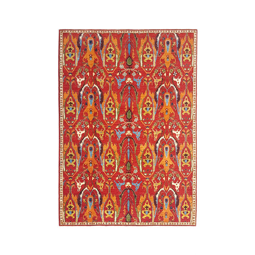 (11'4 x 8'5) feet super fine oriental kazak rug 350x260cm