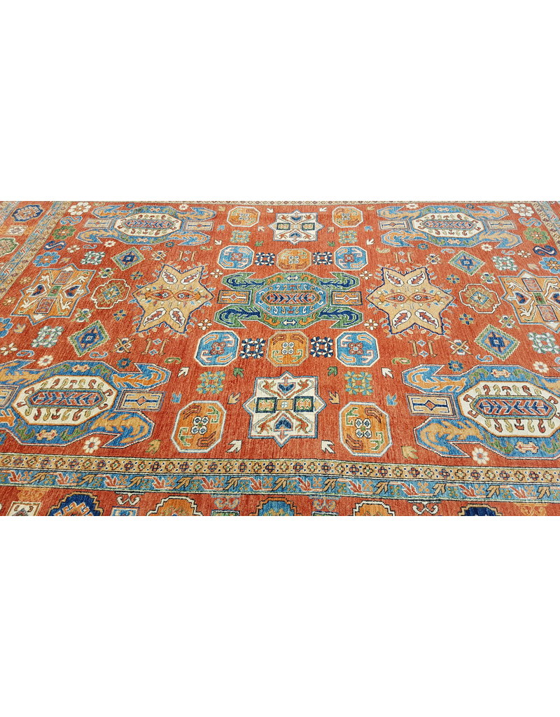 super fijn oriental kazak vloerkleed 351x257cm