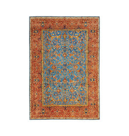 (11'1 x 8'2) feet super fine oriental kazak rug 349x250cm