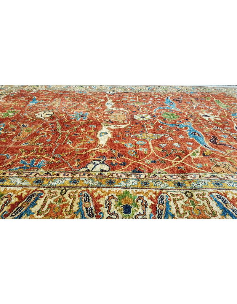 (11'3 x 8'3)feet super fine oriental kazak rug 347x255cm