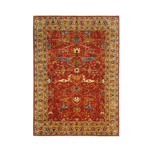 (11'3 x 8'3) feet super fine oriental kazak rug 347x255cm