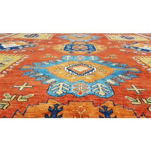 super fijn oriental kazak vloerkleed 356x272cm