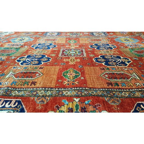 (11'6 x 8'9)feet super fine oriental kazak rug 356x272cm