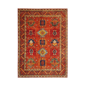 (12'0 x 9'2) feet super fine oriental kazak rug 368x281cm