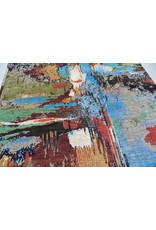 ZARGAR RUGS Handgeknüpft Modern Art Deco  291x190cm   Abstrakt Wolle Teppich multi