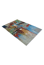 ZARGAR RUGS Hand knotted 9'5x6' Modern  Art Deco Wool Rug 291x190cm    Abstract Carpet   multi