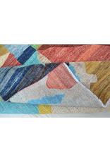 ZARGAR RUGS Hand knotted 9'7x6' Modern  Art Deco Wool Rug 296x193cm    Abstract Carpet   multi