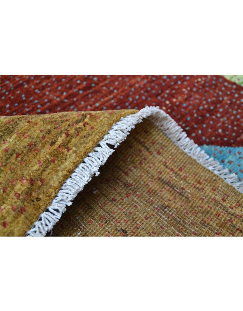 ZARGAR RUGS  Handgeknoopt Modern Art Deco tapijt 296x193cm  oosters kleed vloerkleed  multi