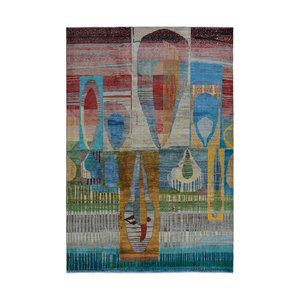 Handgeknüpft Modern Art Deco  300x200 cm   Abstrakt Wolle Teppich multi   design 79