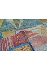 ZARGAR RUGS Hand knotted 9'8x6'5 Modern  Art Deco Wool Rug 300x200 cm  Abstract Carpet   multi