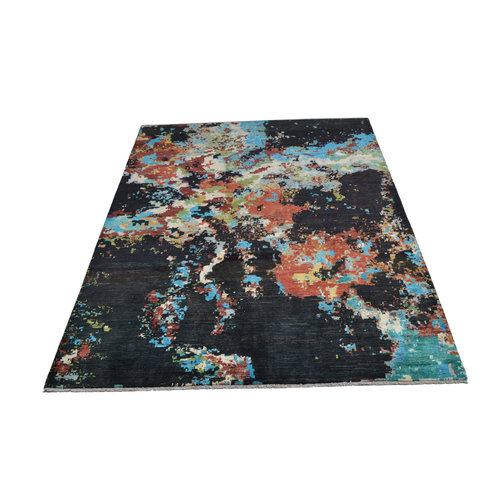 Handgeknoopt Modern Art Deco tapijt 251x198 cm  oosters kleed vloerkleed  multi   design 92 star