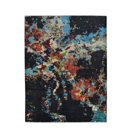 ZARGAR RUGS Hand knotted 8'x6' Modern  Art Deco Wool Rug 251x198cm  Abstract Carpet   multi