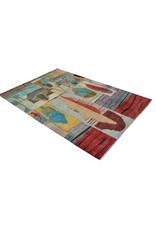 ZARGAR RUGS  Handgeknoopt Modern Art Deco tapijt 296x199 cm  oosters kleed vloerkleed  multi  design 79