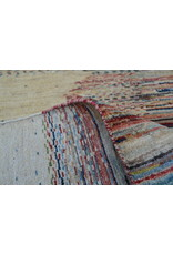 ZARGAR RUGS Handgeknüpft Modern Art Deco  294x201 cm   Abstrakt Wolle Teppich multi    design 18 flag