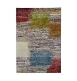 ZARGAR RUGS Handgeknüpft Modern Art Deco  294x201 cm   Abstrakt Wolle Teppich multi