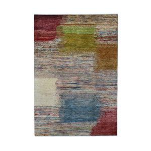 Handgeknüpft Modern Art Deco  294x201 cm   Abstrakt Wolle Teppich multi