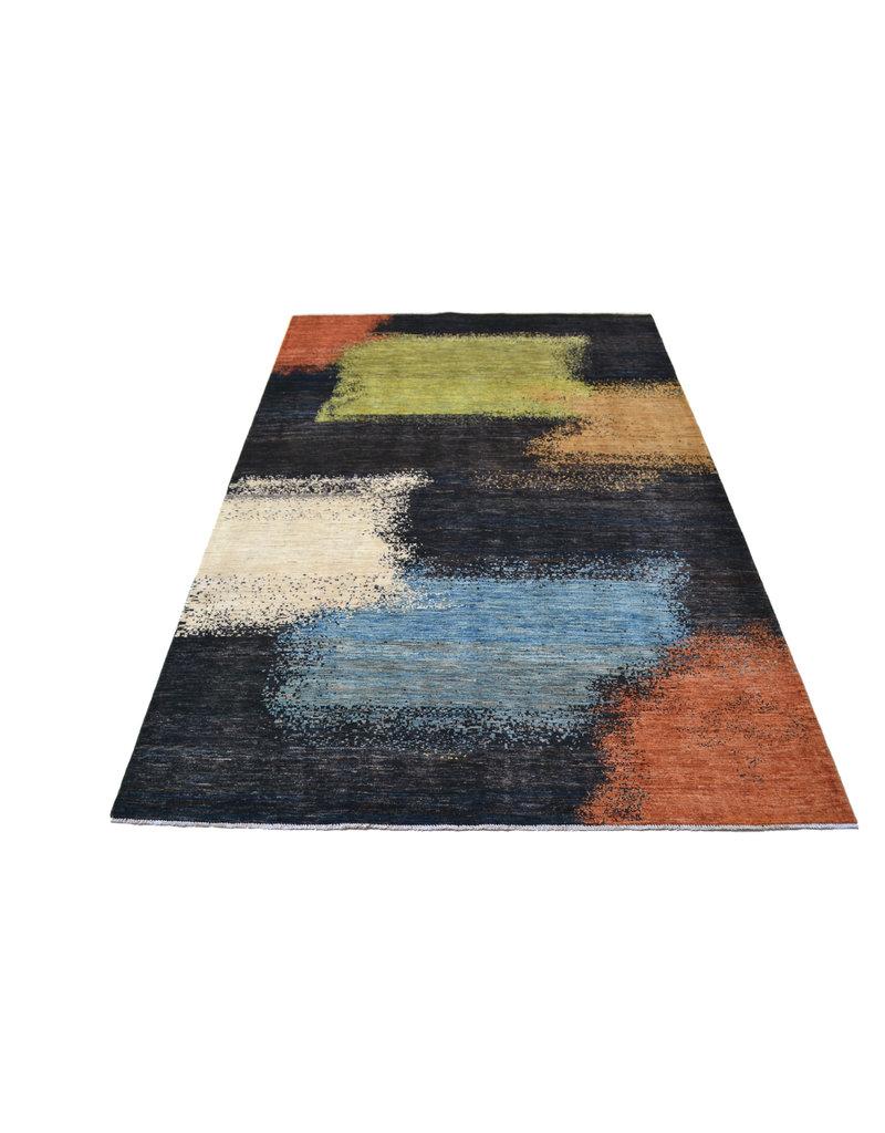 ZARGAR RUGS Hand knotted 9'8x6'5 Modern  Art Deco Wool Rug 300x199 cm  Abstract Carpet   multi design 18 flag