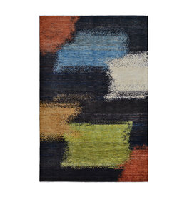 ZARGAR RUGS Hand knotted 9'8x6'5 Modern  Art Deco Wool Rug 300x199 cm  Abstract Carpet   multi