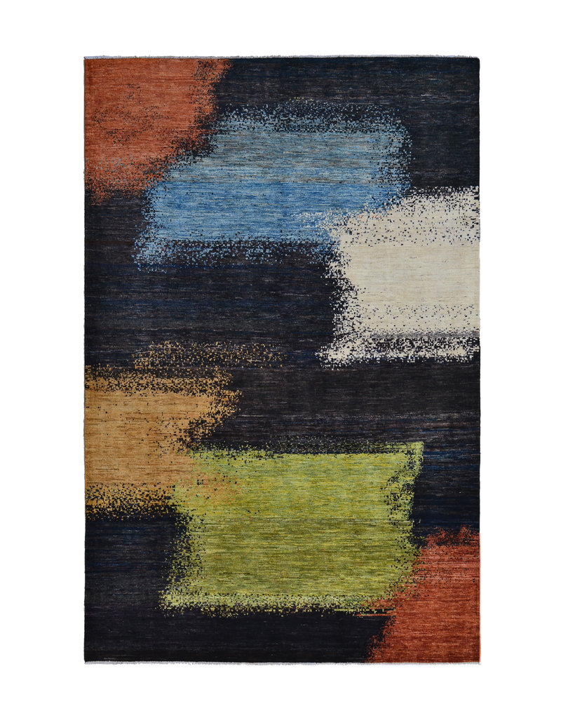 ZARGAR RUGS  Handgeknoopt Modern Art Deco tapijt 300x199 cm  oosters kleed vloerkleed  multi  design 18 flag