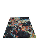 ZARGAR RUGS Hand knotted 8'x6' Modern  Art Deco Wool Rug 251x194 cm  Abstract Carpet   multi star design 92