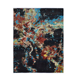 ZARGAR RUGS Hand knotted 8'x6' Modern  Art Deco Wool Rug 251x194 cm  Abstract Carpet   multi