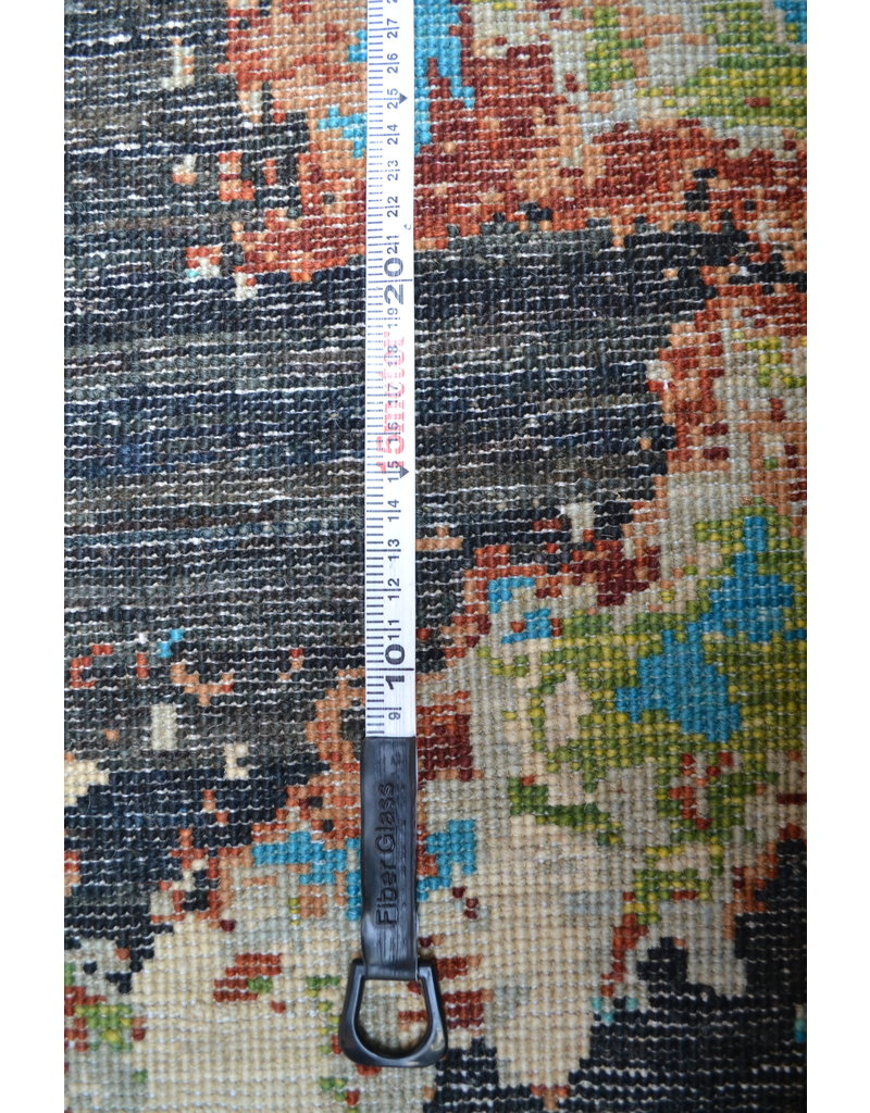 ZARGAR RUGS  Handgeknoopt Modern Art Deco tapijt 251x194 cm  oosters kleed vloerkleed  multi star design 92