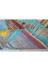 ZARGAR RUGS Hand knotted 9'5x6'5 Modern  Art Deco Wool Rug 292x201 cm  Abstract Carpet   multi design 79