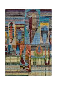 Handgeknoopt Modern Art Deco tapijt 292x201 cm  oosters kleed vloerkleed  multi