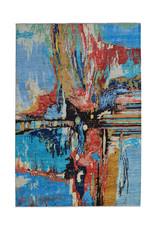ZARGAR RUGS Hand knotted 9'5x6'6 Modern  Art Deco Wool Rug 291x202 cm  Abstract Carpet   multi  design 136