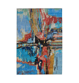 ZARGAR RUGS Hand knotted 9'5x6'6 Modern  Art Deco Wool Rug 291x202 cm  Abstract Carpet   multi