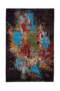 Hand knotted 9'74x6'56 Modern  Art Deco Wool Rug  Abstract Carpet multii color