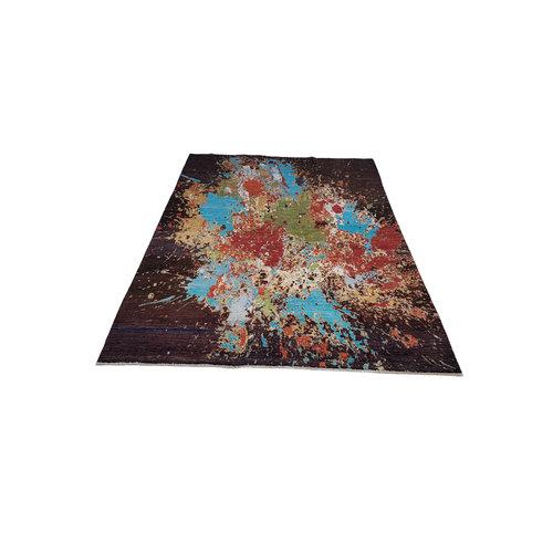 Handgeknoopt Modern Art Deco tapijt 297x200 cm oosters kleed vloerkleed  multi