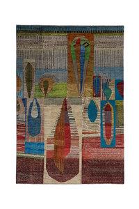 Handgeknoopt Modern Art Deco tapijt 300x203 cm  oosters kleed vloerkleed  multi
