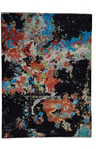 Hand knotted carpet 9'71x6'49 Modern  Art Deco Wool contemporary art rug