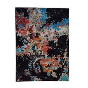 Hand knotted carpet 9'71x6'49 Modern  Art Deco Wool contemporary art rug