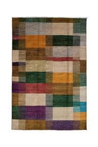 Handgeknoopt Modern Art Deco tapijt 300x204 cm  oosters kleed vloerkleed  multi