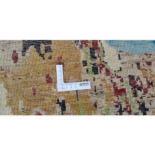Handgeknoopt Modern Art Deco tapijt 295x200 cm oosters kleed vloerkleed  mult