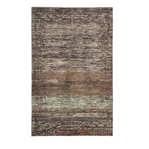 Hand knotted 9'80x6'39 Modern Art Deco Wool Rug Abstract Carpet fine quality