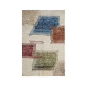 Hand knotted 9'77x6'46 Feet Modern  Art Deco Wool Rug Gabbeh Abstract Carpet