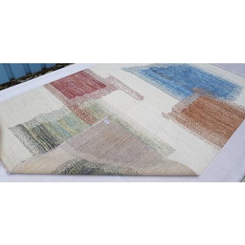 Handgeknoopt Modern Art Deco tapijt 298x197 cm oosters kleed vloerkleed  multi
