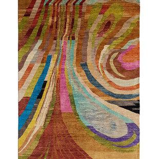 Handgeknoopt Modern Art Deco tapijt 300x194 cm  oosters kleed vloerkleed  multi