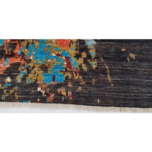 Handgeknoopt Modern Art Deco tapijt 288x205 cm oosters kleed vloerkleed  multi