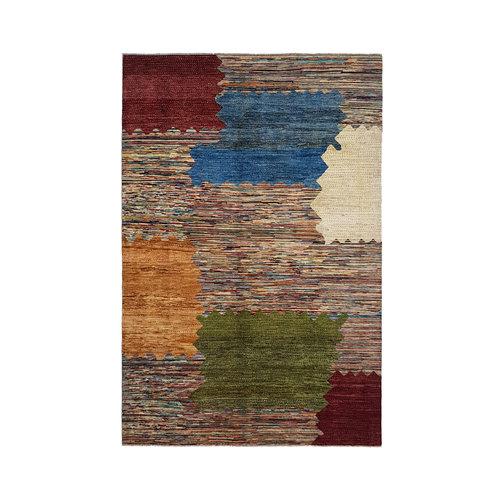 Handgeknoopt Modern Art Deco tapijt 294x198 cm oosters kleed vloerkleed  multi