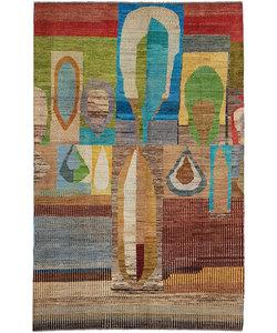 Handgeknoopt Modern Art Deco tapijt 300x197 cm  oosters kleed vloerkleed  multi