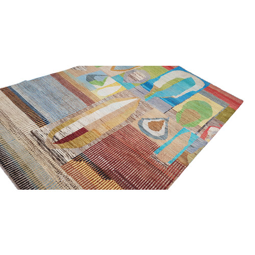Hand knotted 9'84x6'46 Modern Art Deco Wool Rug  Abstract Carpet carpets
