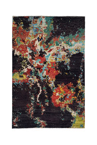 Hand knotted  9'80x6'49 Modern  Art Deco Wool Rug Abstract Carpet multi color