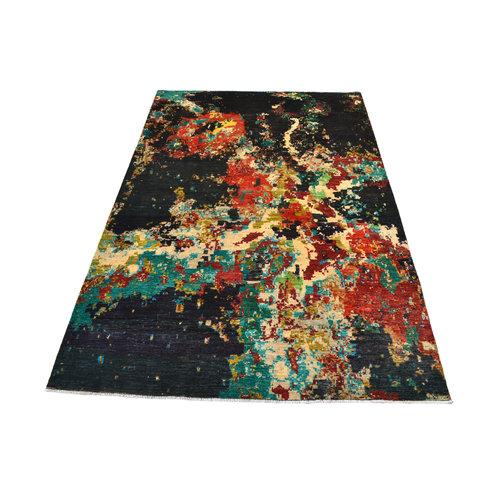Handgeknoopt Modern Art Deco tapijt 295x195m  oosters kleed vloerkleed  multi