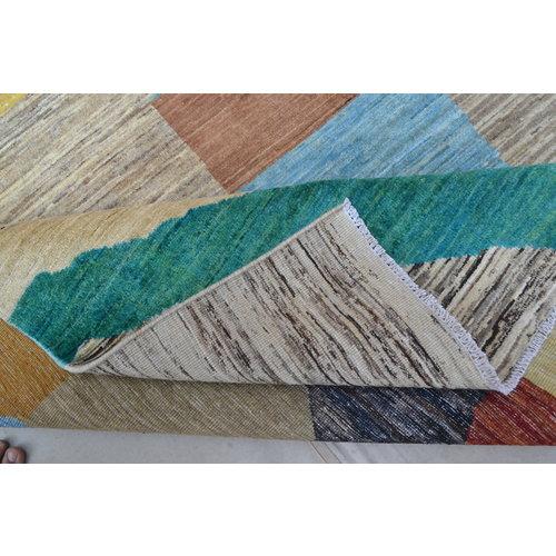 Handgeknoopt Modern Art Deco tapijt 302x194 cm  oosters kleed vloerkleed  multi