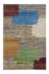 Handgeknoopt Modern Art Deco tapijt 289x196cm  oosters kleed vloerkleed  multi