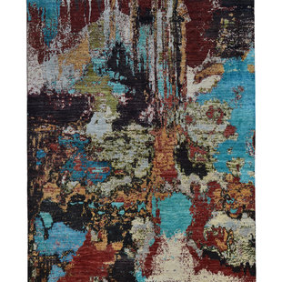 Hand knotted 9'7x6'49  Design  Modern Rug Wool Rug Abstract Carpet teppich